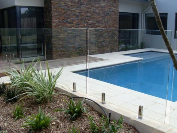Frameless glass pool fencing premium colour gates for Glass pool gate