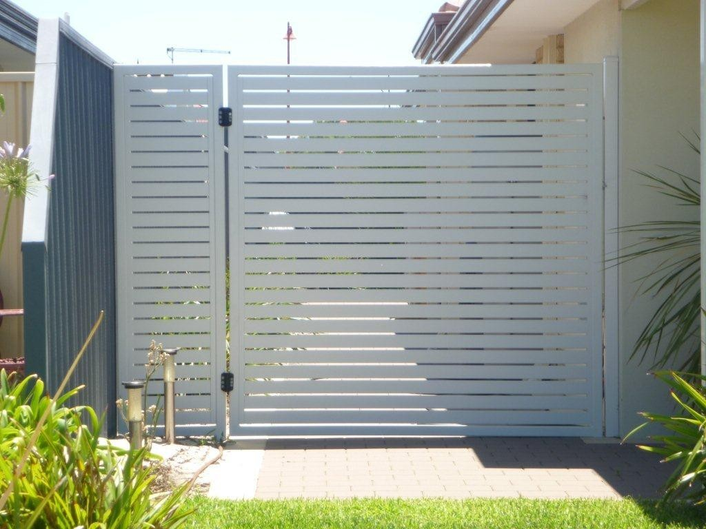 Wood Look Aluminium Slat Fencing And Gates Port Kennedy