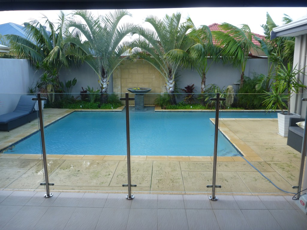 Glass premium colour gates for Glass pool gate